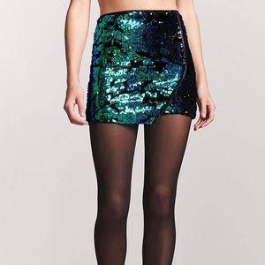 Velvet Camo Sequin Mini Skirt from F21 🛍